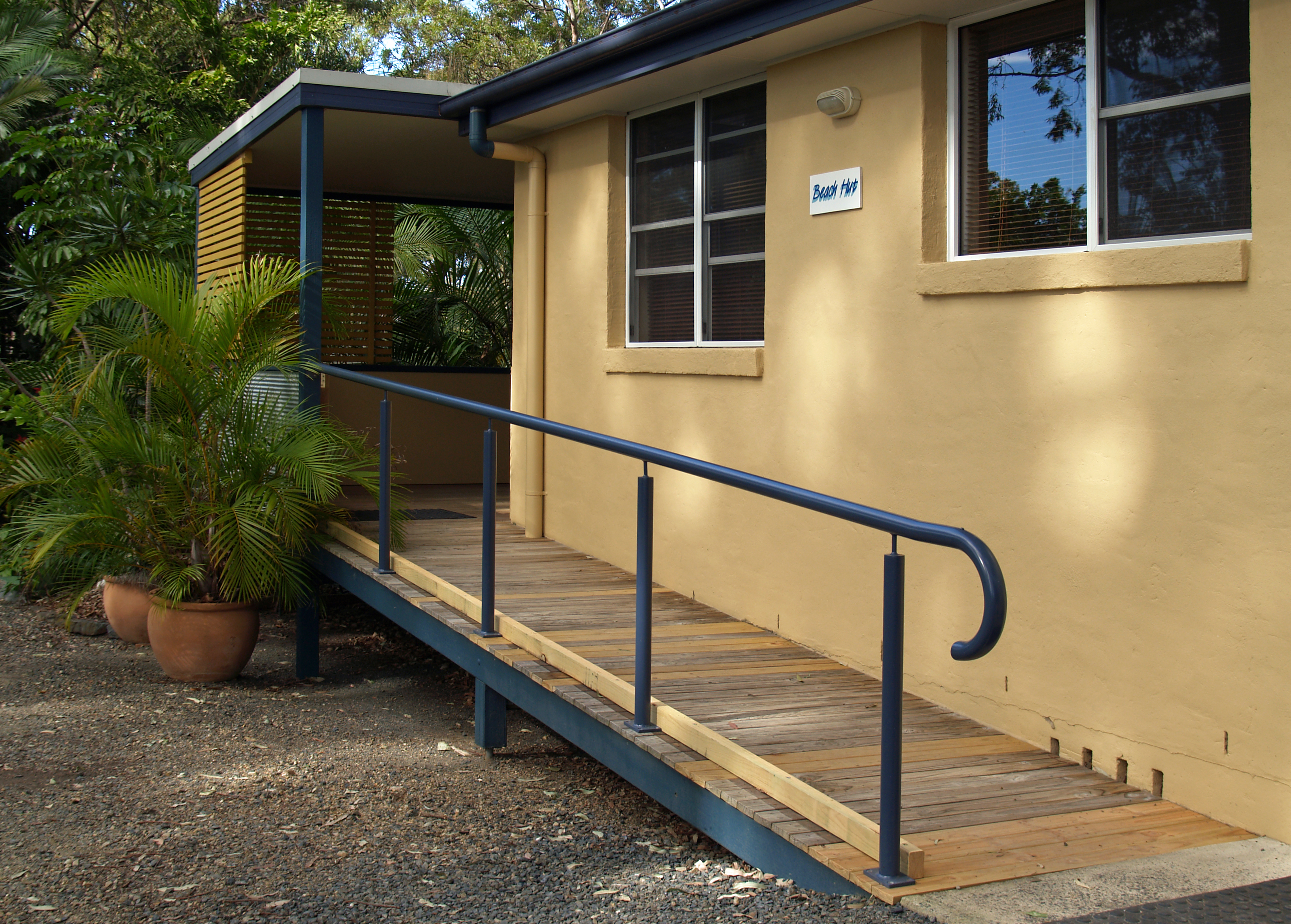 Pet friendly accommodation Woolgoolga & Coffs Harbour The Beach Hut Safety Beach Bungalows